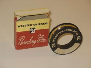 Bobine fil acier magnétique Webster Chicago Recording Wire